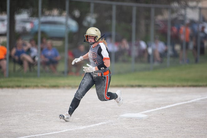 Jenna McIntyre was 2-for-2 with three runs scored in Harlem's 11-0 Class 4A sectional semifinal victory over McHenry at the Harlem Community Center on Tuesday, June 8, 2021, in Machesney Park.