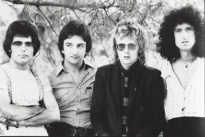 Mostrada en una foto publicitaria de 1978, la banda de rock Queen estaba formada por Freddie Mercury, a la izquierda, John Deacon, Roger Taylor y Brian May desde la formación de la banda en 1970 hasta la muerte de Mercury en noviembre de 1991.
