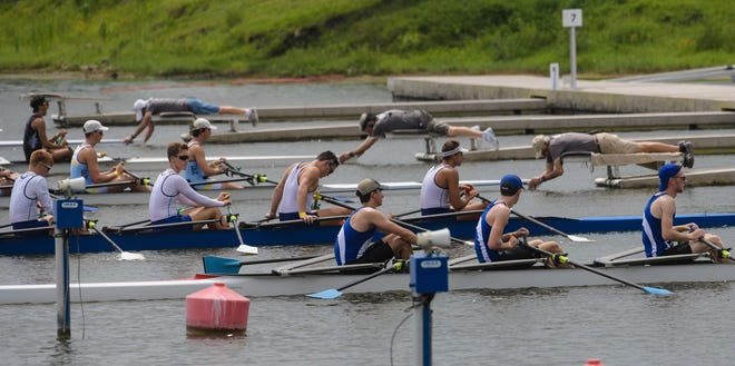 Athletes from around the country compete in the 2019 USRowing Youth National Championships at Nathan Benderson Park. The competition was called off in 2020 because of coronavirus concerns but has returned this year. It will be held Thursday through Sunday.