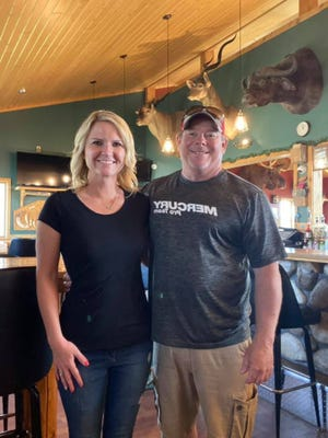Sara and Ron Gordon, new owners of The Cozy Corners Tavern & Grill located at 6800 E. 15 Mile Road in Barbeau.