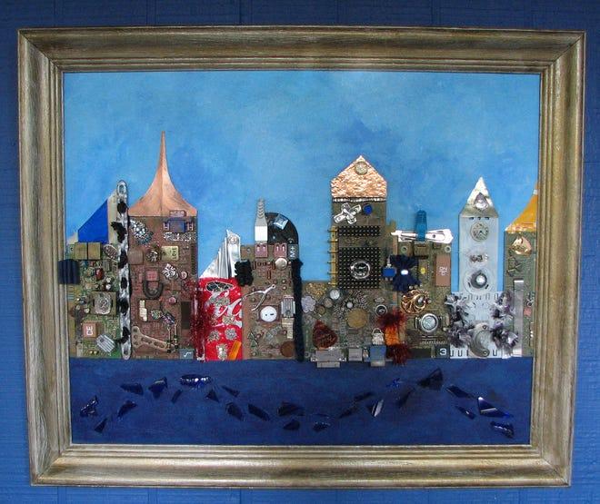 Cityscape courtesy of Deborah Sherron Mill at the Sentient Bean.