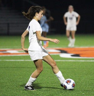 Summer Morrill of Three Rivers scored three times in the team's regional win on Tuesday evening against Comstock.