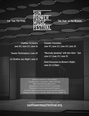 El Festival de Música Sunflower de este año incluye nueve conciertos del 18 al 26 de junio que se enfocan en las mujeres en la música.