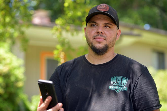 Joseph Painchaud mows lawns through an app. An Uber-like app called GreenPal was launched in Worcester, and allows lawn pros to register to be a vendor, and a homeowner can go on the app to see which lawn pros they want to hire to help mow their lawn.