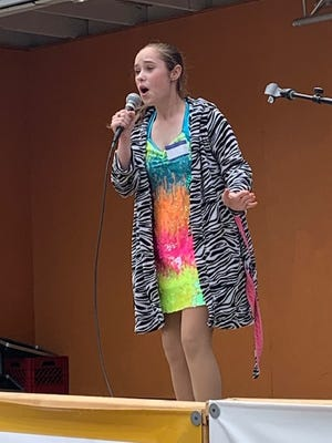 Belle Fockler performs in the talent show at the Tusky Days Festival in 2019.