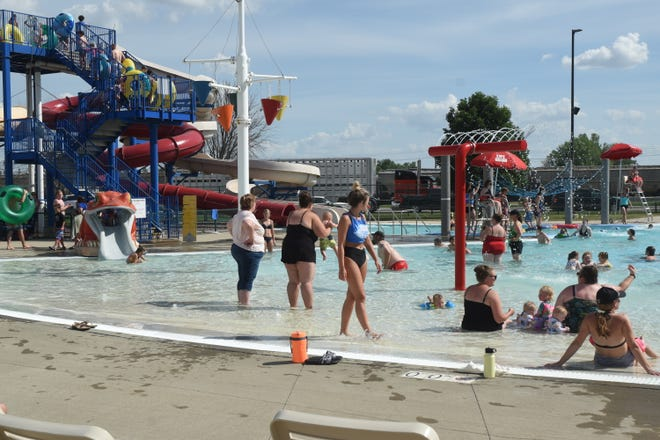 The pools in Watertown, above, and Aberdeen have been popular places as temperatures have soared in recent days. It's been an exceptionally hot start to June across easter South Dakota.