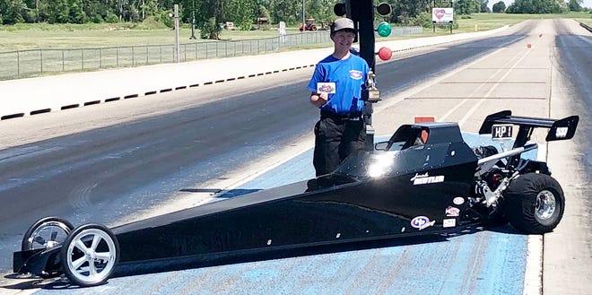 Jack Beutler of Watertown won the NHRA JDRL Challenge race on Sunday at the Grove Creek Raceway in Grove City, Minn. He raced Jocelyn Geib of Montose (Minn.) in the final round of the Junior Advanced class. Avery Dorneman of Watertown advanced to the semifinals in the Junior Novice class.