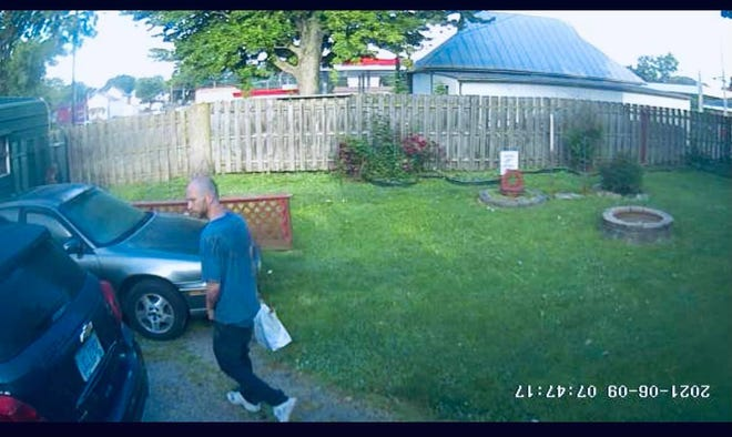 The Bucyrus Police Department is asking for help identifying this man, described as a possible suspect in a string of break-ins.