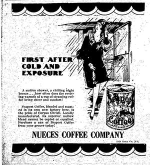 An ad for the Nueces Coffee Company from the March 17, 1929 Corpus Christi Times.