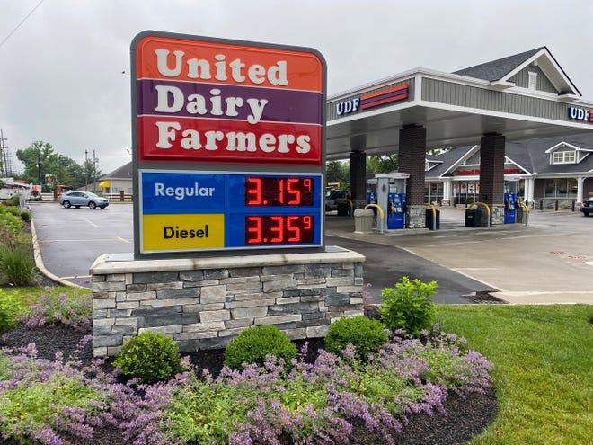United Dairy Farmers gas prices Wednesday on Winton Road in Finneytown.