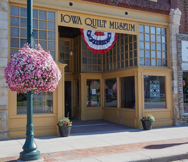 The Iowa Quilt Museum, located in a renovated storefront on the historic square in Winterset, is focused entirely on the history of the American quilt and the art of quiltmaking.