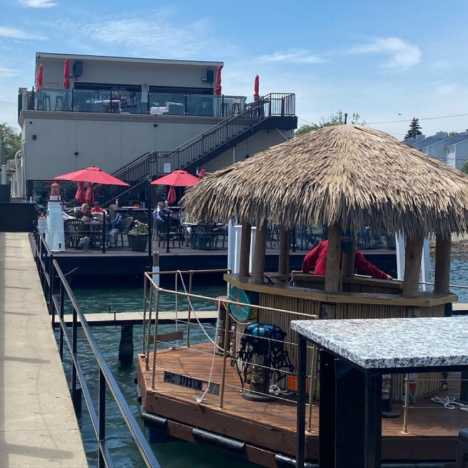 At the Waterfront Restaurant Wyandotte, you can board the Aloha Tiki Tour boat.