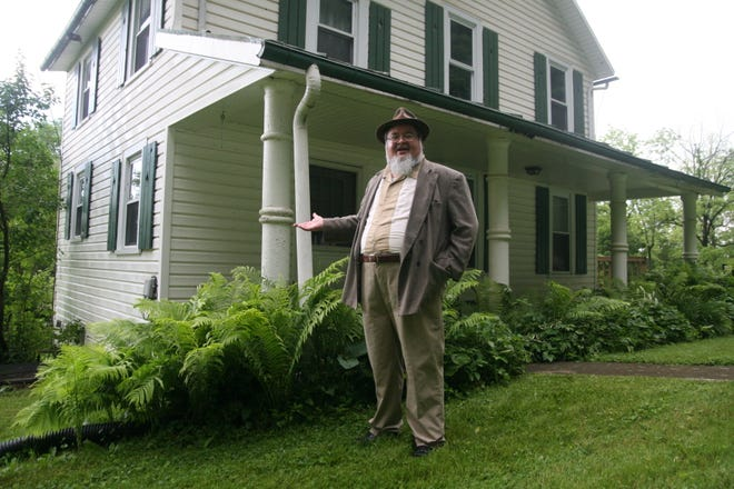 Historian and author Mark Sebastian Jordan discusses the strange tail of Ceely Rose outside her former home at Malabar Farm State Park.