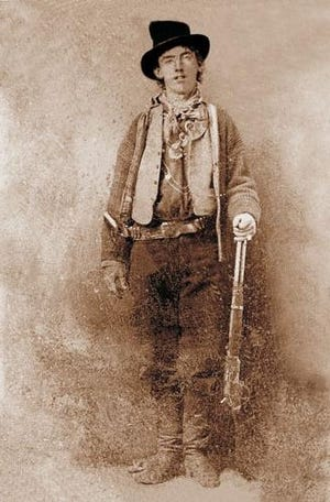 The only verified photograph of Billy the Kid. He grew up in Silver City to become an outlaw whose legend is better known than his reality.