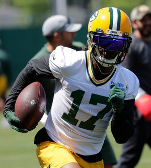Packers wide receiver Davante Adams has a year remaining on his contract.