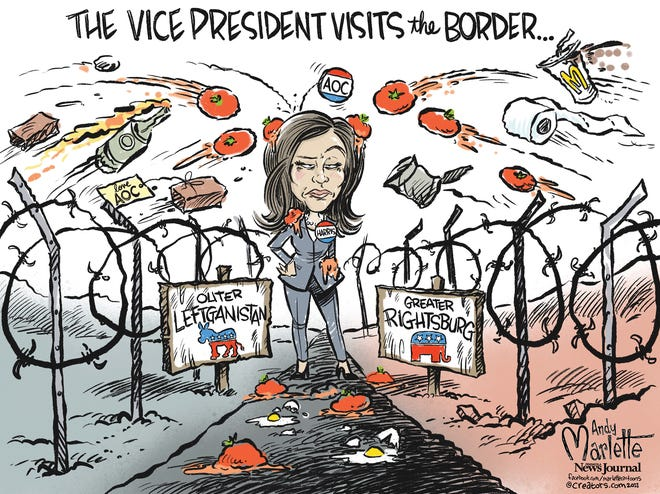 Marlette cartoon: The Vice President visits the border