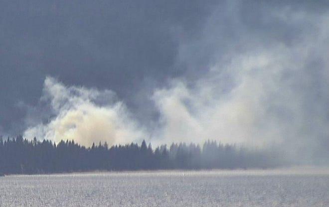Meek fire at north Tahoe on June 9.