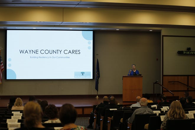 Reid Health hosted a Wayne County Cares event in Lingle Auditorium where various community members and organizations spoke about the impact of trauma on Wednesday, June 9, 2021.
