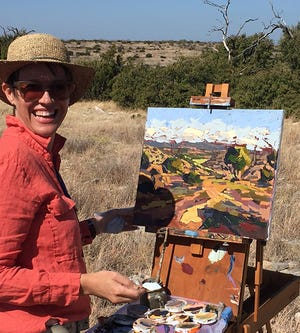 """Carla Bosch will be painting live at """"The Envelope, Please"""" event Friday, June 11, 2021, at the San Angelo Museum of Fine Arts."""