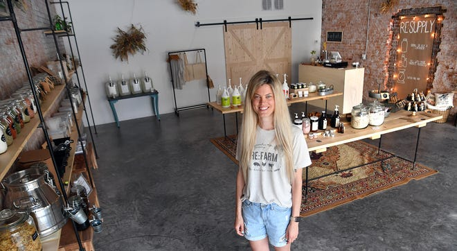 Kacie Scherler-Abney and her husband own Re:Supply, a waste-free alternative store selling spices, herbs, dry goods, cleaning supplies and cooking oils.