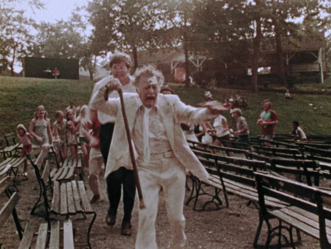 """An elderly man (Lincoln Maazel) endures a nightmarish day at a carnival in George Romero's """"The Amusement Park."""""""