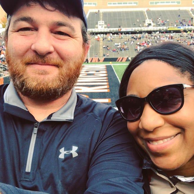 Dan and Felecia Radel at a Princeton University football game.