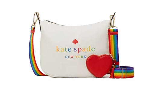 Kate Spade has committed to donating as much as $150,000 from sales of the rainbow collection to LGTBQ  youth support organization The Trevor Project.