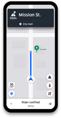 Uber's latest upgrade shows an icon and pin on the driver's map that indicate what side of the street the rider is on.