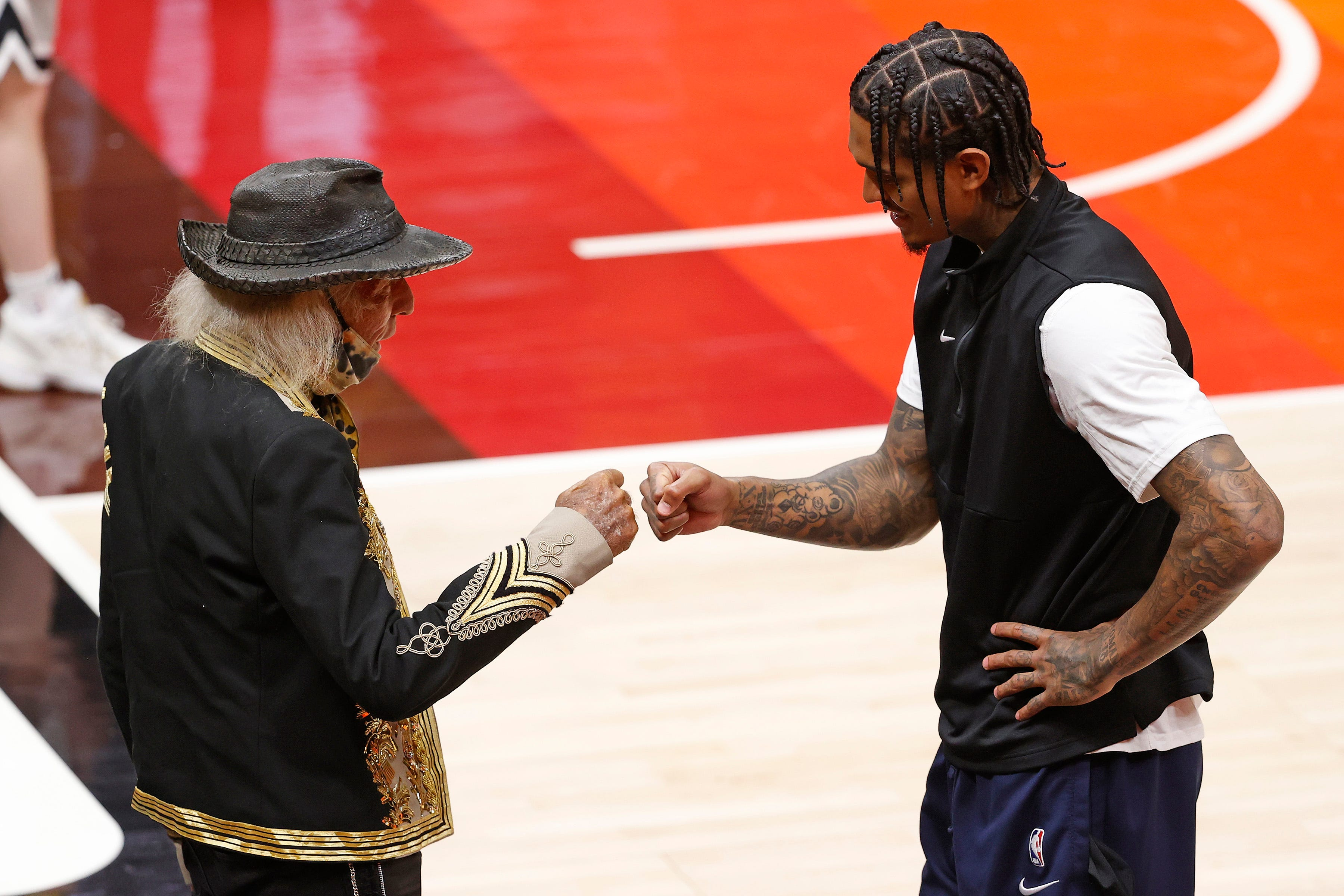 Celebs turn out for playoffs as NBA welcomes fans