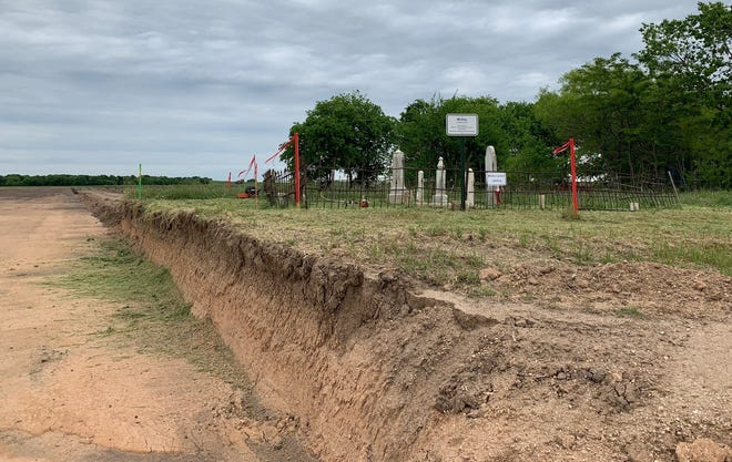 Whitley Cemetery, on Texas 29 in Georgetown, is shown in April after volunteers with the Cemetery Restoration Committee began restoring it in 2012 and now regularly maintain it.