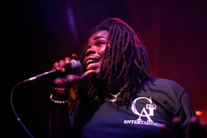 Kxng Blanco performs on the second night of ATHfactor-Liberty Entertainment's hip-hop residency at Live Wire Athens on June 9, 2021.