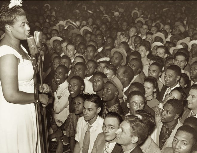 Ella Fitzgerald performs in St. Louis with Chick Webb, circa 1938