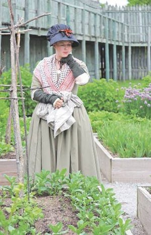 Fort Michilimackinac and Colonial Michilimackinac have an over 5,000 square foot garden that is tended by those who work at the facility. This weekend, those who tour the facility will be able to see and help tend this garden.
