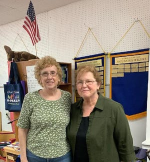 Retired Dundee teacher Fran Willis and veterinarian Susan Collins were each recognized with the Paul Harris Fellowship Award by Dundee Rotary.