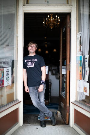 Jack Stover owns Records Per Minute on North High Street, one of several central Ohio record shops participating in Record Store Day on Saturday.