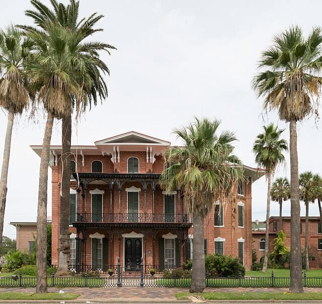 Ashton Villa in Texas. It was here General Gordan Granger read the order freeing local slaves on June 19, 1865.