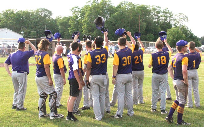 The Bronson Vikings tip their cap to the Schoolcraft Eagles after falling in the D3 District Semifinals Wednesday
