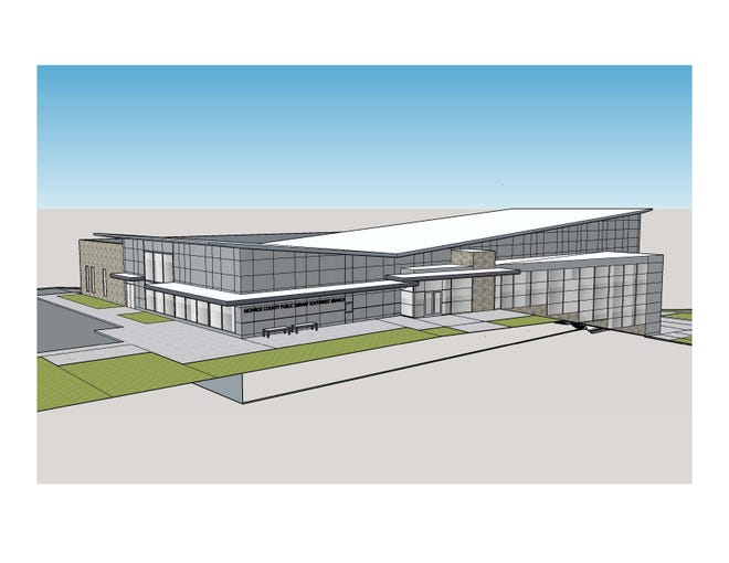 A rendering of the planned southwest branch of the Monroe County Public Library.