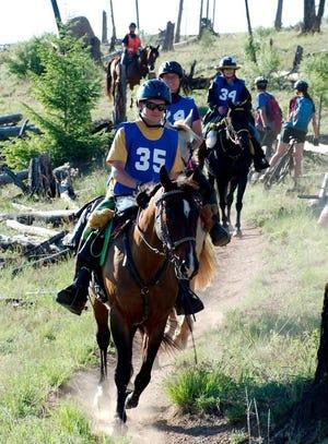 Ryan Klamm of Hutchinson rides with the Kansas Horse Council Foundation.