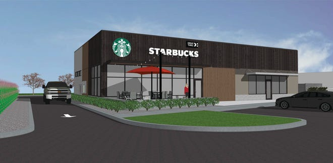 A rendering of the new Starbucks location set to open at Glen Hollow Shopping Center in Peoria.