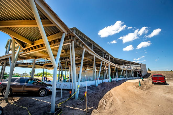 Construction of the Explorations V Children's Museum at Bonnet Springs Park in Lakeland. The museum will become known as Florida Children's Museum when it opens in the new location next year.