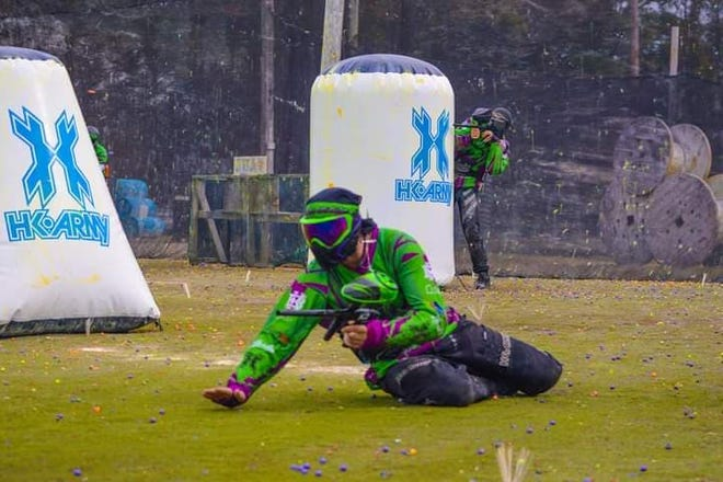 Devin Van Skiver competes last season in the Amateur Paintball Event Series at Pittsburgh Paintball Park, in Pittsburgh.