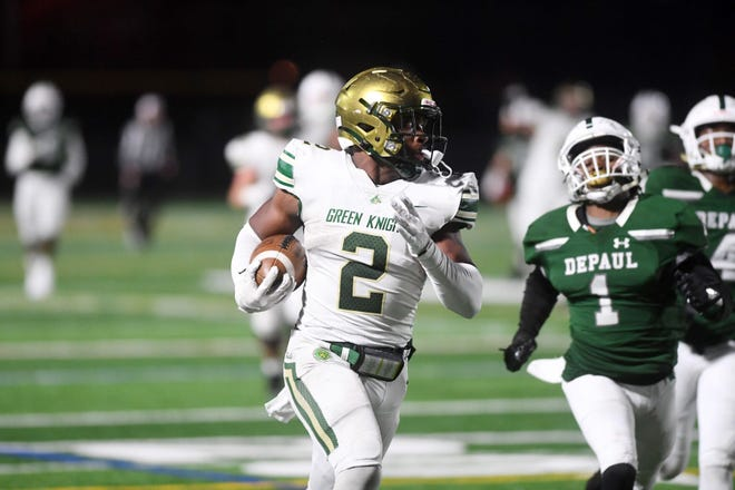 Montvale (N.J.) Saint Joseph Regional running back Audric Estime (2) reports to Notre Dame on Friday to start his college career.