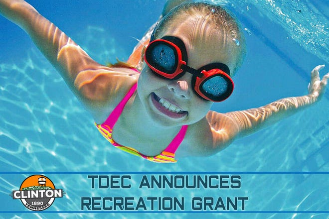 The city of Clinton has announced a grant from the state to renovate its pool, making it smaller but more ADA accessible as well as adding a splash pad.