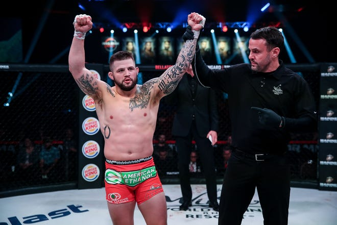 Former Tulsa Union and Oklahoma State wrestler Kyle Crutchmer has a 7-1 record in mixed martial arts.