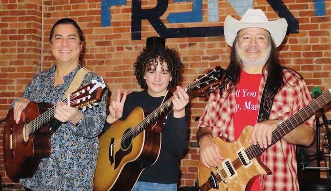 The Brave Amigos is a trio comprised of Edgar Cruz, Blake Bricker and Marco Tello. They will present an Elm Tree Concert June 20 at the Arcadia Round Barn.
