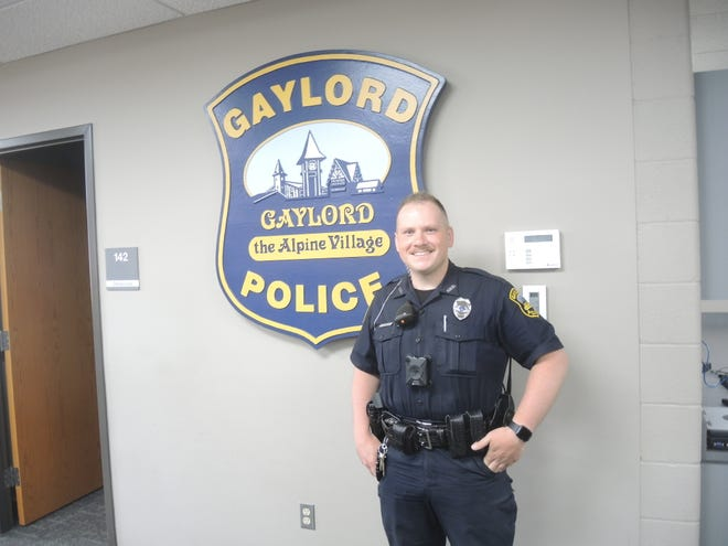 Taylor Johnson, 27, has joined the Gaylord Police Department after serving in the Flint Township department.