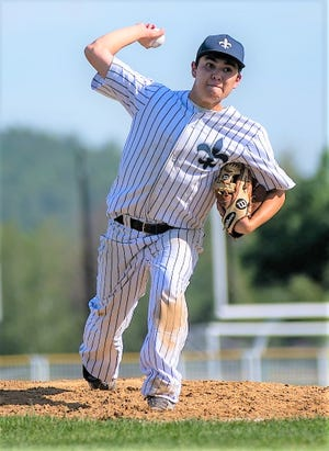 St. Thomas Aquinas senior right-hander Mike Cavanaugh delivers a pitch in Wednesday's 5-1 win at Kingswood in a Division II semifinal.