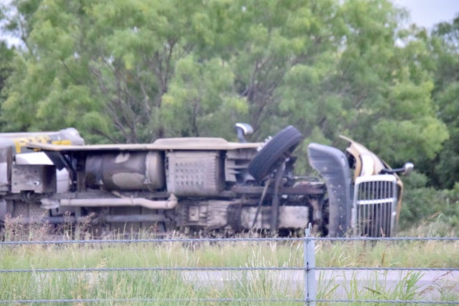 A big rig wrecked on the western side of southboung Highway 67 early Thursday morning. There was no report of injuries or other vehicles being involved. The incident is still under investigation by the Runnels County Sheriff's Office.
