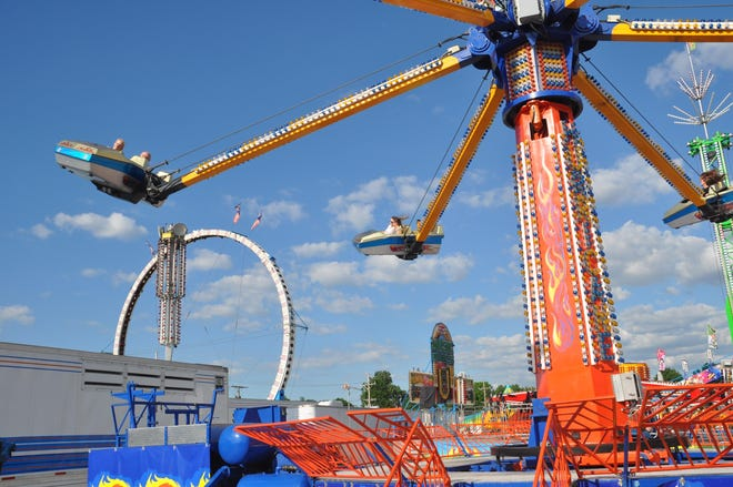 The North Canton Jaycee Fair, pictured here in a 2016 file photo, will return to the city on Monday.